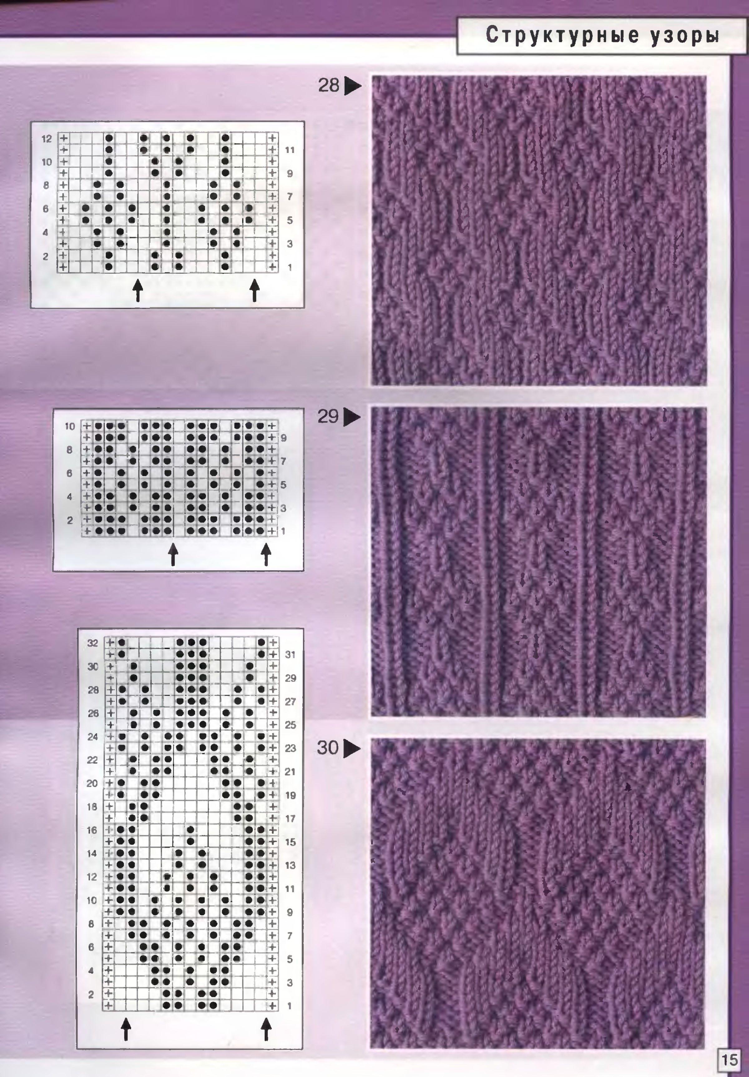 Узоры вязания на спицах косы схемы